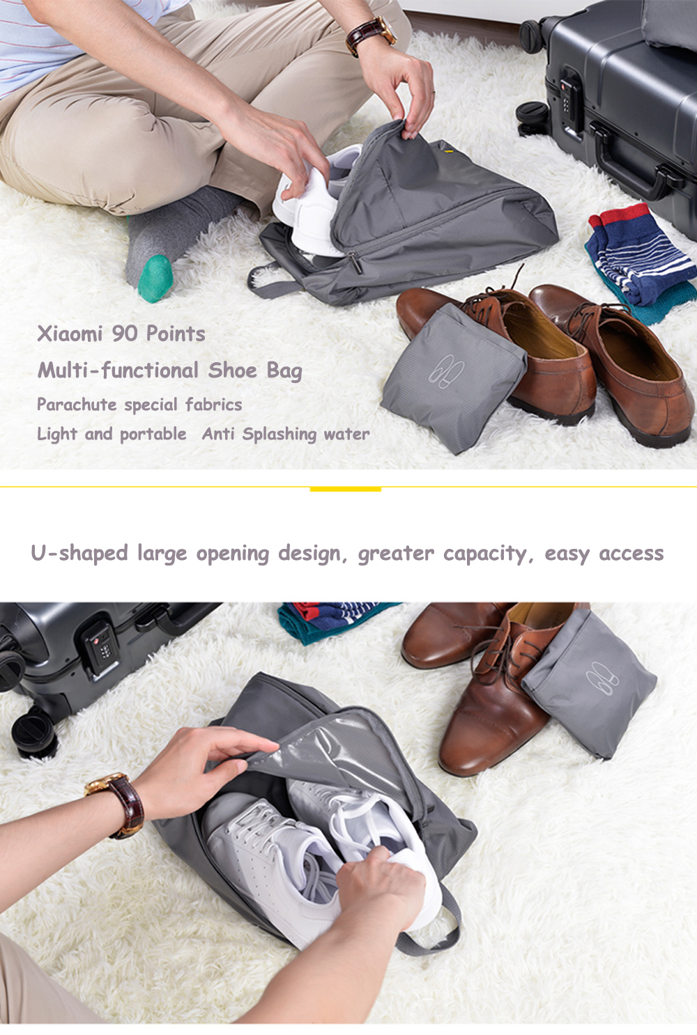 90 Points Multifunctional Shoe Bag